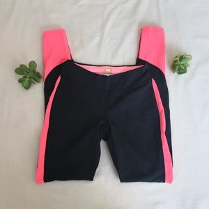 Lucy Dark Grey & Hot Pink Work Out Leggings XS